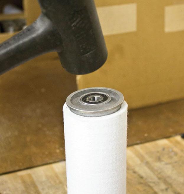 install roller end cap
