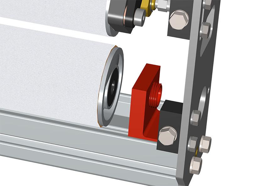 slide lower roller carrier bracket