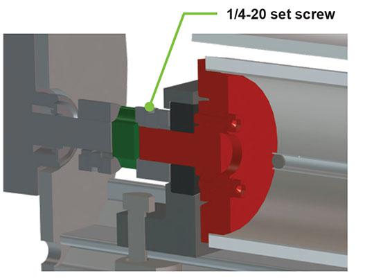 set screw on shaft coupling