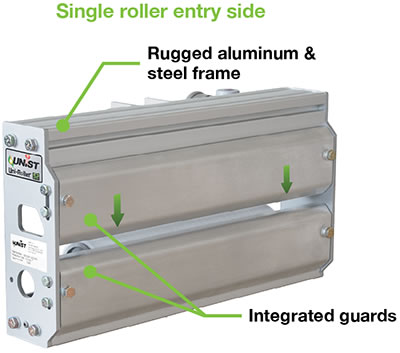 single roller entry side